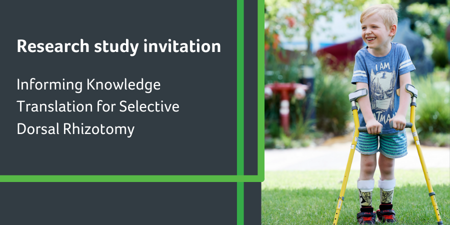 Invitation to participate in research to promote knowledge sharing about selective dorsal rhizotomy.