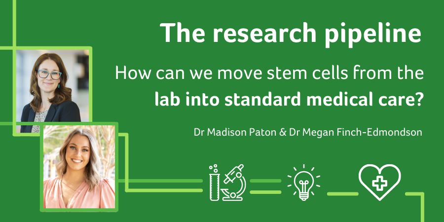The research pipeline: how can we move stem cells from the lab into standard medical care?