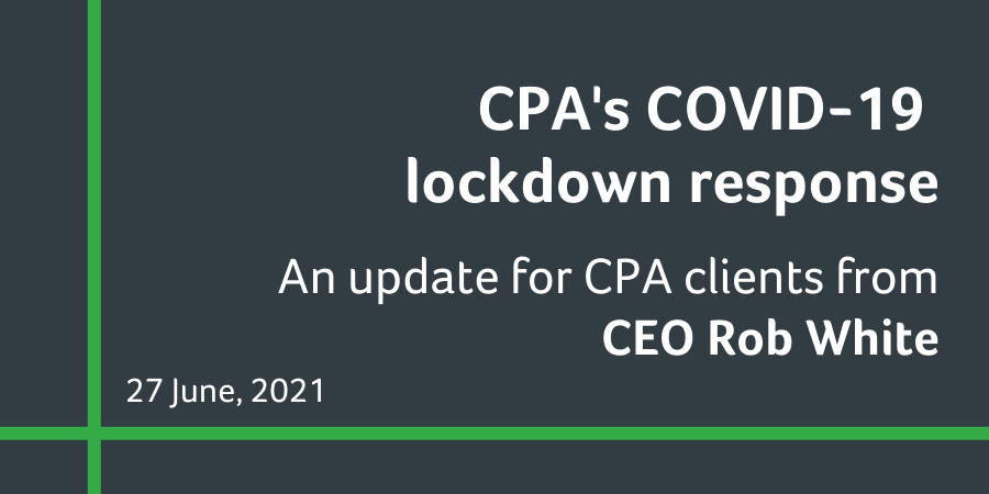 COVID-19 update - impacts to your CPA services