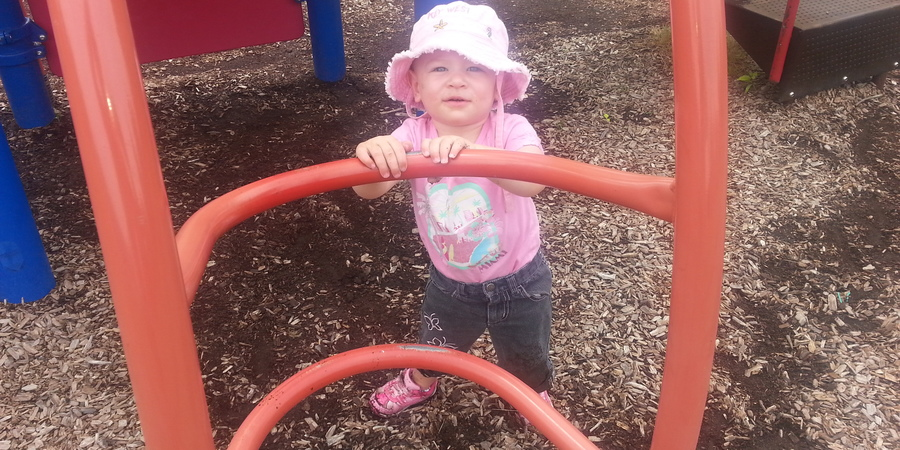 From staring to caring:  an angel at the playground